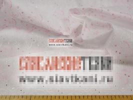 """Вышитая ткань, хлопок, рисунок """"розовые, кремовые цветы"""", ширина 106 см"""