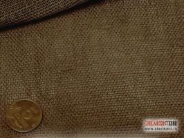 Лен декоративный, коричневый, ширина 150 см