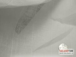 Лен декоративный, разряженный, белый, ширина 150 см