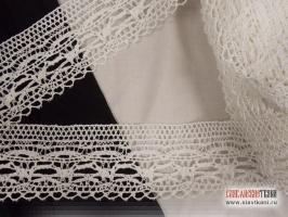 Кружево из хлопка, цвет белый, ширина 89 мм