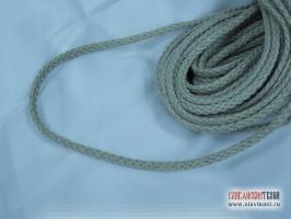 Шнур, лён, цвет серый, диаметр 6 мм
