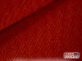 Лён, цвет: красный рождественский, ширина 150 см.