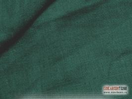 Лён, цвет бутылочный, ширина 150 см