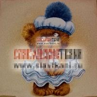 "Декоративная наволочка, гобелен, рисунок ""Медвежонок морячка"", 45х45 см."