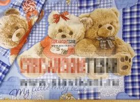 """Бязь, хлопок, детский рисунок """"три медведя""""(г), ширина 150 см"""