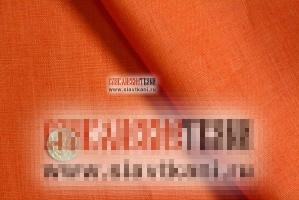 Лён, цвет: оранжевый, ширина 150 см.