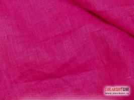 Лён, цвет ярко-розовый, ширина 150 см