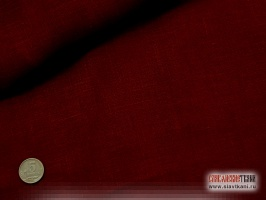 Лён, цвет бордовый, ширина 150 см