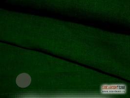 Лён, цвет: глубокий оливково-зелёный, ширина 150 см.