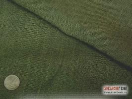Лён, цвет тёмно-травяной, ширина 150 см