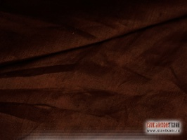 Лён, цвет тёмно-шоколадный, ширина 150 см