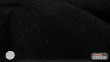 Лён, цвет чёрный, ширина 150 см
