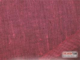 Лён, цвет: малиново-розовый, ширина 150 см.