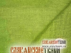 Лён, декоративный, цвет салатовый, ширина 150см