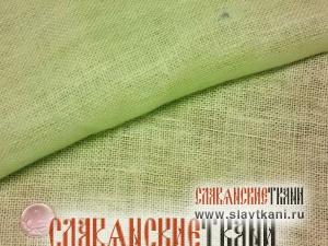 Лён, декоративный, цвет салатовый, ширина 100см