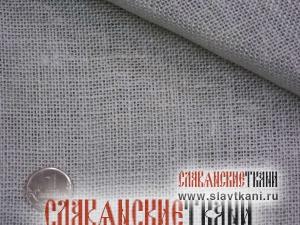 Лён, декоративный, цвет светло-серый, ширина 100см