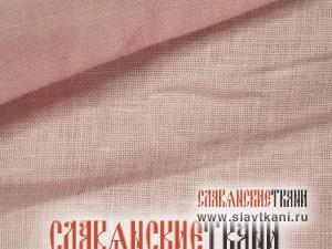 Лён, цвет светло-розовый, ширина 150 см