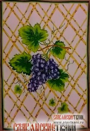 "Салфетка, хлопок, рисунок ""виноград"", размер 60х40 см."