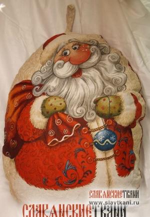 "Подушка, гобелен, рисунок ""Дед Мороз"", 74х60 см"