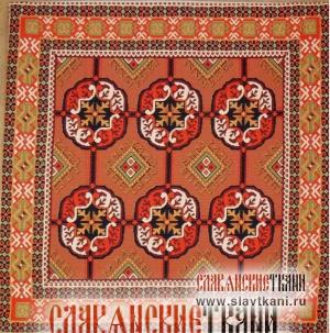 """Декоративная наволочка, гобелен, восточный, рисунок """"Красно-бордовый восточный рисунок"""", 45х45 см."""