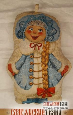 "Подушка, гобелен, рисунок ""Снегурочка"", 32х45 см"