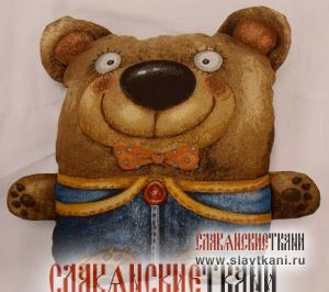 "Подушка с наполнителем, гобелен, рисунок ""Медвежонок с карманами"", 40х45 см"