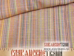 """лён/хлопок, рисунок """"жёлто-оранжевая полоска"""", ширина 150 см"""