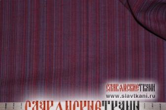 """лён/хлопок, рисунок """"серо-бордовая полоска"""", ширина 150 см"""