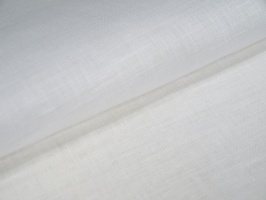 Лён, цвет белый, оптическое отбеливание,ширина 70 см