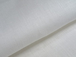 Лён, беленый, цвет молочный, ширина 150 см