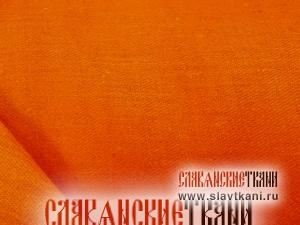 Лён, цвет оранжевый, ширина 150 см