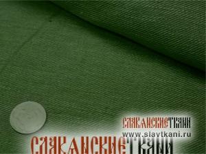 Лён, цвет зелёный, ширина 165 см
