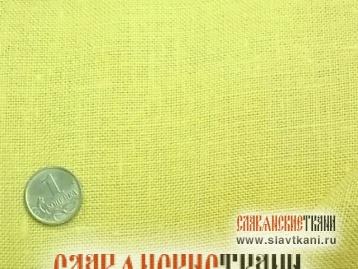Лён, цвет: грушевый, ширина 150 см.